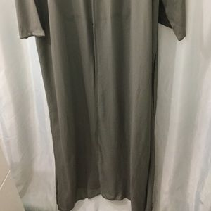 Eileen Fisher Jackets & Coats - Eileen Fisher XL Olive robe, kimono, duster